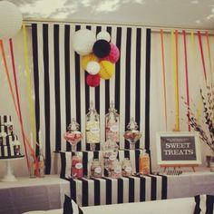 #monochrome #stripes #wedding #styling