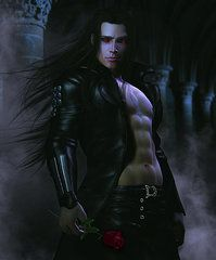 Male Vampire Art - Baine by Suzanne Amberson