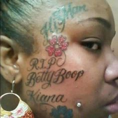 More WTF Tattoos! What were they thinking? These are the worst/best tattoos we've ever seen. Ghetto People, Stupid People, Bad Tattoos, Cool Tattoos, Worst Tattoos, Funny Tattoos, Dumbest Tattoos, Tatoos, Cartoon Tattoos