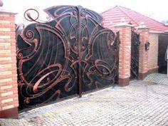 Industrial Design Furniture, Furniture Design, Iron Garden Gates, Farm Gate, Wrought Iron Gates, Doorway, Blacksmithing, Art Deco, Metal
