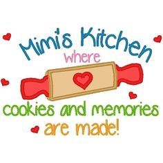 Mimis Kitchen Cookies Applique - 3 Sizes! | Words and Phrases | Machine Embroidery Designs | SWAKembroidery.com Band to Bow