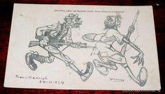 Postales: POSTAL CARICATURA PROTECTORADO ESPAÑOL EN MARRUECOS, 1924, ILUSTRADOR GAMONEDA, FERNANDEZ ESTURILLO, - Foto 1 - 56733166