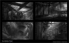 Titanfall Concept Art Thumbnails - Refinery by James Paick Art Ideas For Teens, Art Projects For Teens, Kitchen Canvas Art, Pop Art Zombie, Value Painting, Collaborative Art Projects, Digital Art Anime, Modern Art Deco, Game Concept Art