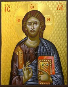Christ - Χριστός. For more go to https://greekorthodoxicons.wordpress.com/2015/11/27/christ/