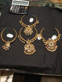 Gold Jewelry In China Gold Earrings Designs, Gold Jewellery Design, Necklace Designs, Gold Jewelry, Gold Designs, Designer Jewellery, Jewelry Sets, Wedding Jewelry, Antique Jewelry