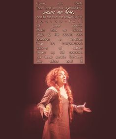 Alex Kingston as Lady Macbeth.  I wish I could have seen this.  I don't even care who else was in the play.  She would make a magnificent Lady Macbeth.