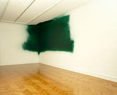 'Katharina Grosse : paint spray on the wall .... the corner disappears so .... sculpture' http://www.pinterest.com/rackellemarum/art-inspiration/