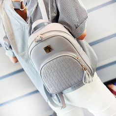 Cheap leather school bag, Buy Quality school bag for teenager directly from China bags for teenager Suppliers: EnoPella women backpack leather school bags for teenager girls stone sequined female preppy style small backpack Small Women's Backpack, Backpack Travel Bag, Backpack Purse, Fashion Backpack, Mini Backpack, Backpack 2017, Backpack Online, Rucksack Backpack, Sequins