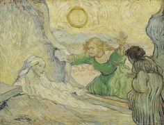 Vincent van Gogh, The Raising of Lazarus (after Rembrandt), 1890, Van Gogh…