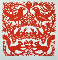_ Born in Mark Hearld studied illustration at Glasgow School of Art and MA in Natural History Illustration at the Royal College of Art. Paper Cutting, Cut Paper, Glasgow School Of Art, Red Squirrel, Paper Artwork, Royal College Of Art, Arte Popular, Antique Books, Artist At Work