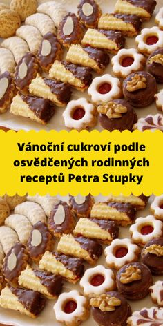 Christmas Sweets, Christmas Candy, Christmas Baking, Christmas Cookies, Polish Desserts, Cookie Desserts, Dessert Recipes, Pav Recipe, Czech Recipes