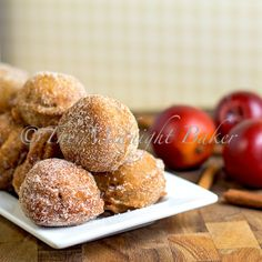 Easy Apple Cider Donuts by themidnightbaker #Donuts #Apple_Cider #Easy