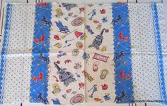 Vintage 1930s Cotton Fabric-Homey Kitsch-under 1 yard. $7.00, via Etsy.
