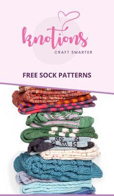Toe-up, kalvosinnapit, kaapelit, pitsi, colorwork ja paljon muuta! Knitted Socks Free Pattern, Loom Knitting Patterns, Lace Knitting, Knitting Socks, Knitting Projects, Knit Socks, Crochet Patterns, Knitted Slippers, Knitting Magazine