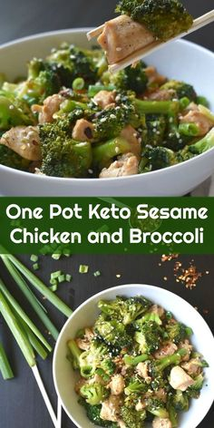 the 4 Cycle Solutions Japanese Diet - One Pot Keto Sesame Chicken and Broccoli via Peace, Love, and Low Carb Discover the Worlds First & Only Carb Cycling Diet That INSTANTLY Flips ON Your Bodys Fat-Burning Switch Ketogenic Recipes, Low Carb Recipes, Real Food Recipes, Diet Recipes, Healthy Recipes, Dessert Recipes, Healthy Soup, Soup Recipes, Diet Tips