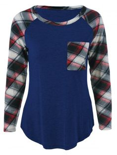 GET $50 NOW   Join RoseGal: Get YOUR $50 NOW!http://www.rosegal.com/plus-size-tops/plus-size-one-pocket-plaid-804753.html?seid=1424208rg804753