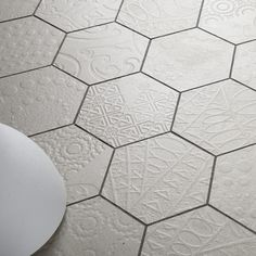 Hexagon Tiles || Patterned Tiles - New  Relief pattern  available at Ceramica  info@ceramica.us
