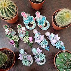 Boho Jewelry, Fashion Jewelry, Africa Dress, Soutache Necklace, Polymer Clay Flowers, Beach Crafts, Bijoux Diy, Rakhi, Shibori