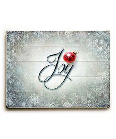 Look at this #zulilyfind! 'Joy' Wall Art #zulilyfinds
