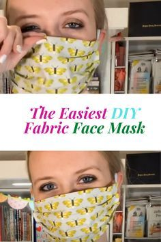 The Easiest DIY Fabric Face Mask - simple knitted blanket Diy Craft Projects, Small Sewing Projects, Diy Crafts, Easy Face Masks, Homemade Face Masks, Best Diy Face Mask, Sewing Patterns Free, Sewing Tutorials, Pattern Sewing
