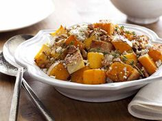 Butternut Squash with Pecans and Blue Cheese Recipe : Nigella Lawson : Food Network - FoodNetwork.com