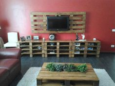 This is a pretty cool idea. Pallet living room.