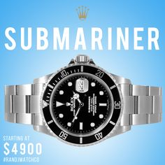 Rolex Submariner on sale now - email us at sales@randjwatchco.com