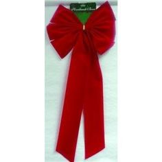 13x30 6 loop red bow large 6 loop red flock bow 14 x 28 - Large Christmas Bows