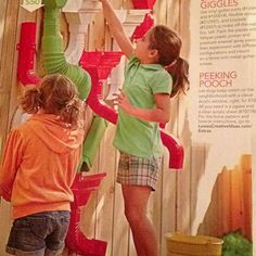 Shoots and Giggles - vinyl gutter parts ( & ( flexible spouts ( and brackets ( Paint with plastic primer and enamel spray paint. Outdoor Play, Outdoor Living, Play Yards, Sensory Table, Water Walls, Little Diva, Outdoor Classroom, Garden Fun