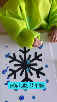 Snowflake Painting | Crafting a Fun Life