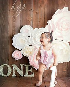 This is listing for set of 8 premium quality crepe paper flowers (roses and peonies), handmade with great care! Gorgeous breathtaking flowers for special moment... Perfect for nursery wall decor, first birthday smash cake photo props, baby shower decor, etc. Includes: 1 flower 6 wide 2 flowers 8 wide 1 flower 12-13 wide 3 flowers 15-16 wide 1 flower 24 wide Original flower display made in Sweet Pea, Cream and Bright White colors. You are welcome to choose color, size, quantity and design…