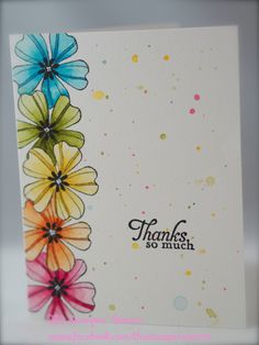 Stampin' Up! Flower Shop and Simply Sketched Stamps using Stampin' Write Markers by carlene Cute Cards, Diy Cards, Your Cards, Tarjetas Stampin Up, Stampin Up Cards, Karten Diy, Watercolor Cards, Watercolour, Watercolor Flowers