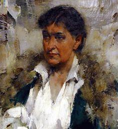 Willa Cather (7 december 1873 – 24 april 1947) - Portret door Nikolai Fechin, 1923-24