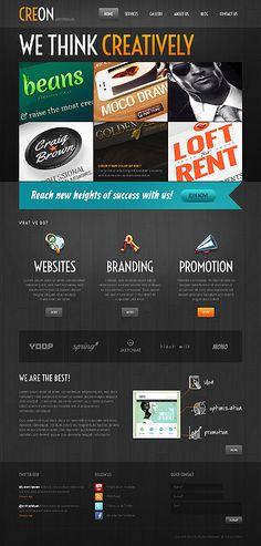 Template 43108 'Creon Creative' WordPress 3.x #webdesign agency http://zign.nl/43108
