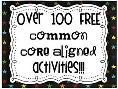 FREE activities for reading. This links to the Florida Center for Reading Research site which now lines up with common core. Love it!