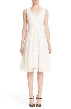 Erdem 'Gaby' Lace V-Neck Sheath Dress