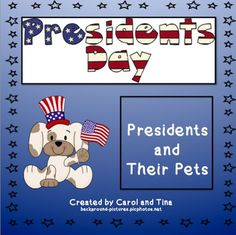 Did you know that 32 dogs have been pets in the White House? Can you imagine having an alligator for a pet? We have researched presidents who have had pets in the White House and put together a product that will provide you with Reading, Writing, and Math activities/worksheets.