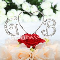 Cake Topper Non-personalized Monogram / Hearts Wedding / Quinceañera & Sweet Sixteen / Anniversary / Birthday Rhinestone SilverClassic - USD $6.29 ! HOT Product! A hot product at an incredible low price is now on sale! Come check it out along with other items like this. Get great discounts, earn Rewards and much more each time you shop with us!
