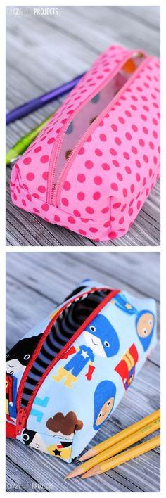 Pencil Bag Tutorial-Perfect for School!