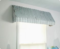 How to make your own rustic farmhouse window awnings. These beautiful farmhouse window treatments look great in any room and are very inexpensive to make. Farmhouse Window Treatments, Farmhouse Windows, Window Treatments Living Room, Bathroom Windows, Window Awnings, House, Bay Window Treatments, Timeless Bathroom, Window Coverings