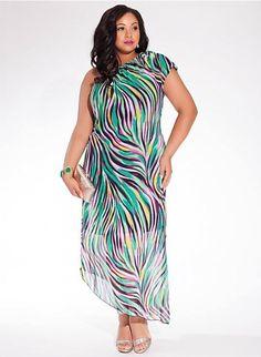 5e4287ea6ef Daily Venus Diva Taris Plus Size Asymmetric Dress in Wave Beautiful Maxi  Dresses