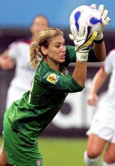 starting goalie on the U.S. women's soccer team.