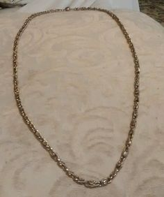 """Vintage gold colored chain necklace 13"""" long #225 #Chain"""