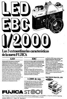Fuji denominó Fujica a sus cámaras fotográficas. Año 1973