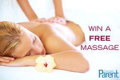 Win a FREE massage! Click through to enter. Contest closes April 25.