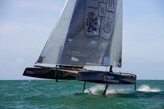 Le GC32 d'Edmond de Rothschild en nav' au large de Lorient.