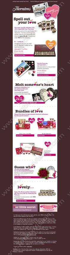 Preorder email template email design pinterest email design brand thorntons subjectlet thorntons help you deliver the perfect valentines gift with 15 off until wednesday be inspired by our email design pronofoot35fo Gallery