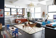 A Fun & Fashionable Family Room