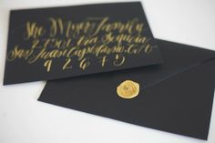 White and Gold Wedding. Gold Wax Seal. gold wax seal  & hand lettering http://www.monvoir.com/