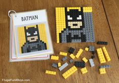 Lego Activities, Summer Activities, Toddler Activities, Lego Projects, Projects For Kids, Crafts For Kids, Summer Crafts, Summer Fun, Lego Mosaic